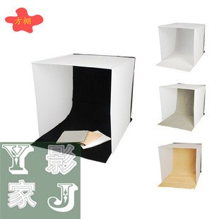 Adearstudio 60cm square portable folding shed lambed with black white ash 4 background cloth botticing