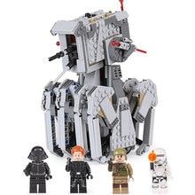 05126 seria gwiezdnych wojen pierwsze zamówienie Scout Walker zestaw Model klocki kompatybilne z lepining 75177 75188 DIY zabawki dla dzieci