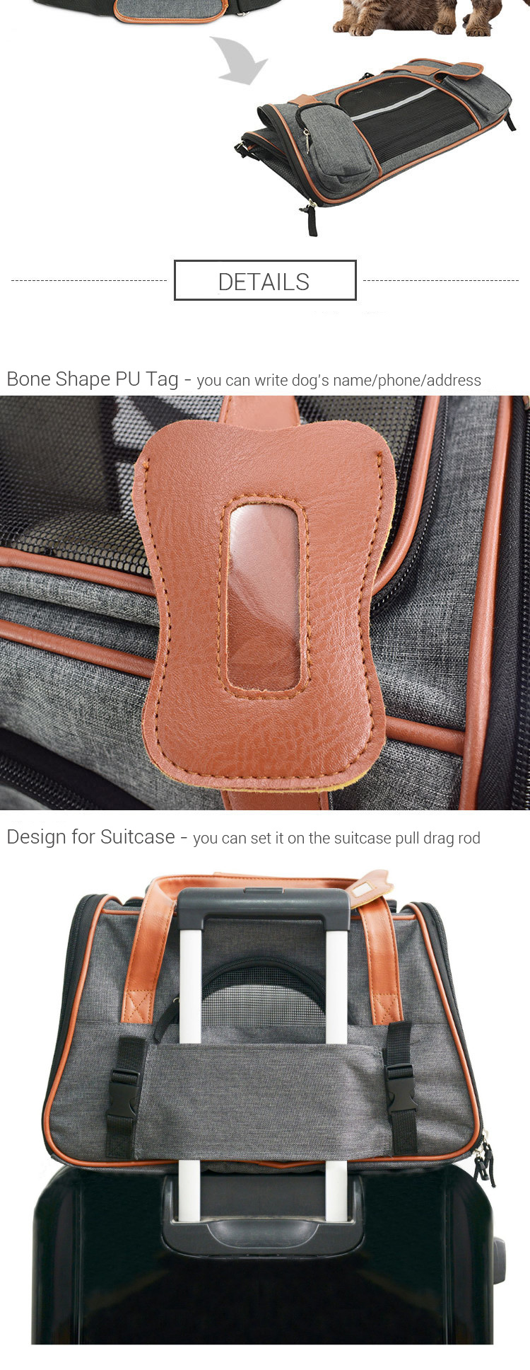 Breathable K9 Dog Backpack Carrier 10