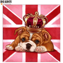 5d diy diamond embroidery Crown dog diamond painting Cross Stitch animal full round drill Rhinestone mosaic decor