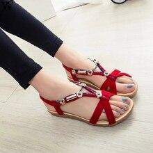 d74ee5d6bcefe Women Sandals Summer Beach Sandals Flip Flops Bohemian Women Shoes Fashion  Beaded Flat Sandals Jan14(