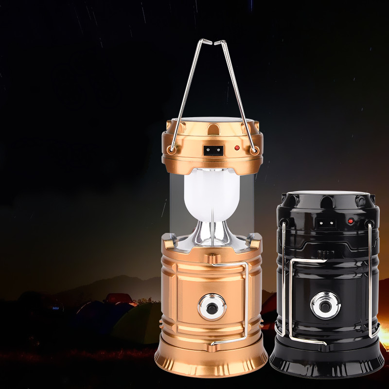 Multi-function LED portable lantern solar LED flashlight rechargeable camping lanterns outdoor tent lights outdoor lighting