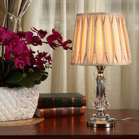 Modern minimalist table lamp crystal for living room bedroom cafe store hotel decorative lights creative table lights
