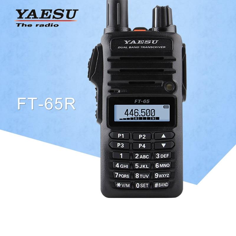 General Walkie Talkie YAESU FT-65R Dual Band VHF/UHF 136-174 / 400-480MHz FM Ham Two-Way Radio Transceiver