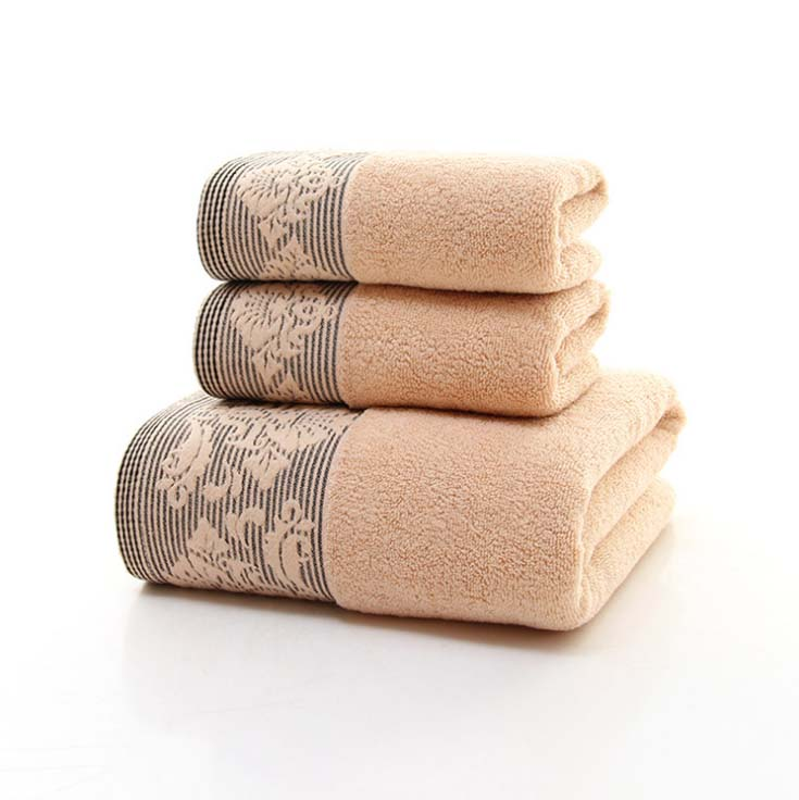 3Pcs Solid Luxury Hotel Bath Towel And Face Towel Set Thikcer Home Towels Bathroom For Adults
