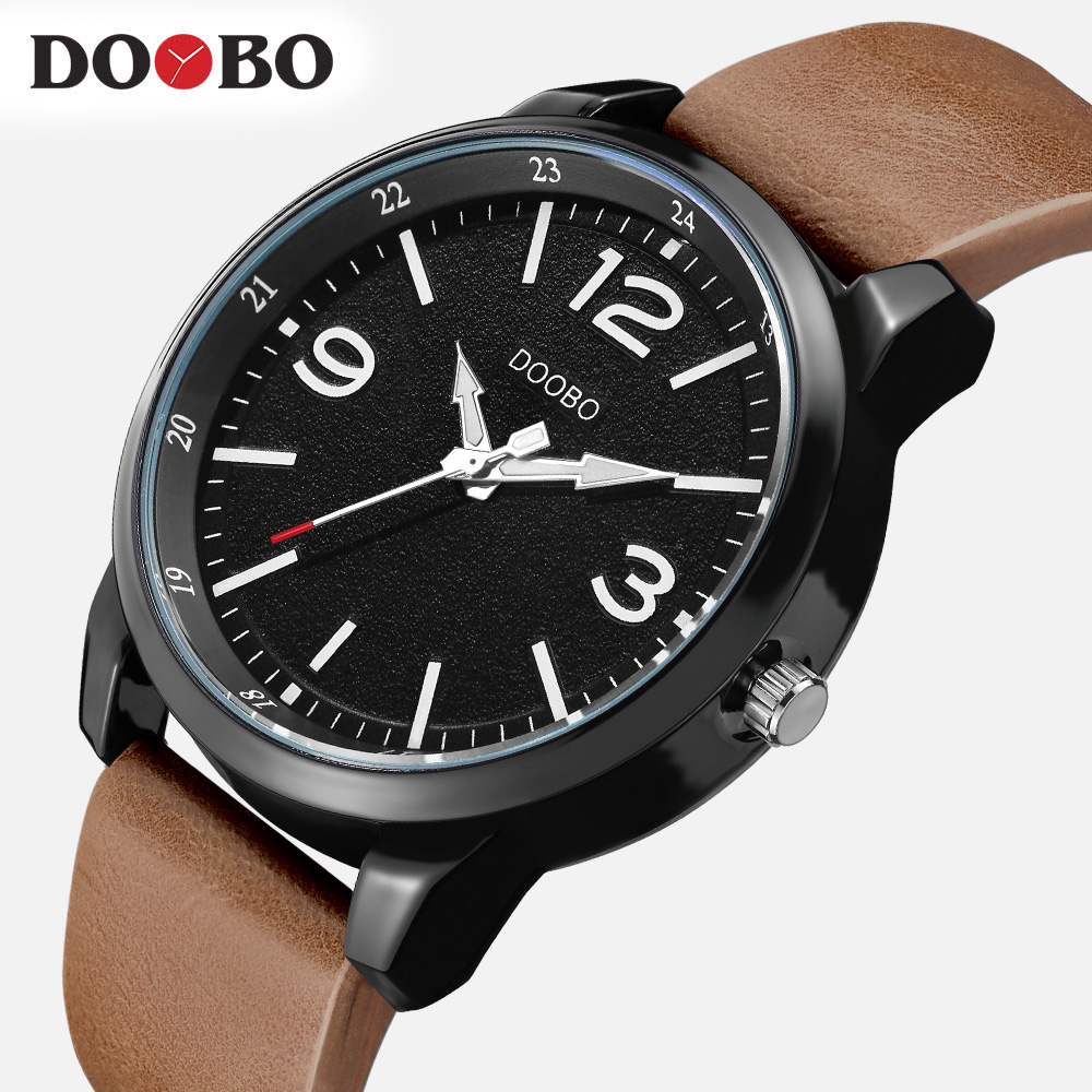DOOBO Military Watches Men Brand Luxury Leather Strap Quartz Men Watch Fashion Casual Sport Clock Male Watch Relogio Masculino new watches men luxury brand sinobi sport casual quartz watch fashion mesh strap waterproof clock male relogio masculino