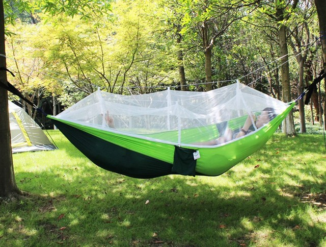 Outdoor C&ing Hammock Tents Portable Hanging Mosquito Net Tents 210T Nylon Fabric Tents 300kg Maximum Load & Outdoor Camping Hammock Tents Portable Hanging Mosquito Net Tents ...