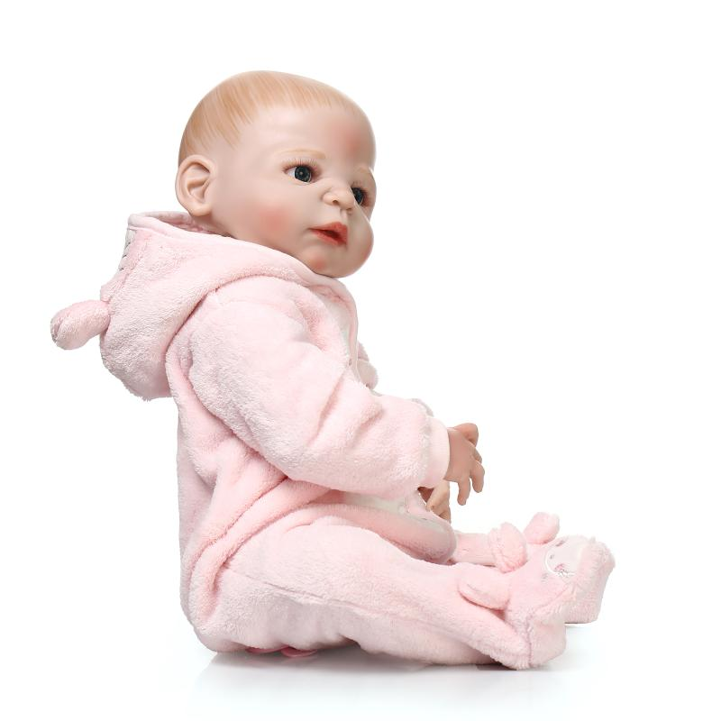 57cm Full body silicone reborn doll toys, real reborn babies girl dolls Bareheaded kids child bath toy gift girls boneca57cm Full body silicone reborn doll toys, real reborn babies girl dolls Bareheaded kids child bath toy gift girls boneca