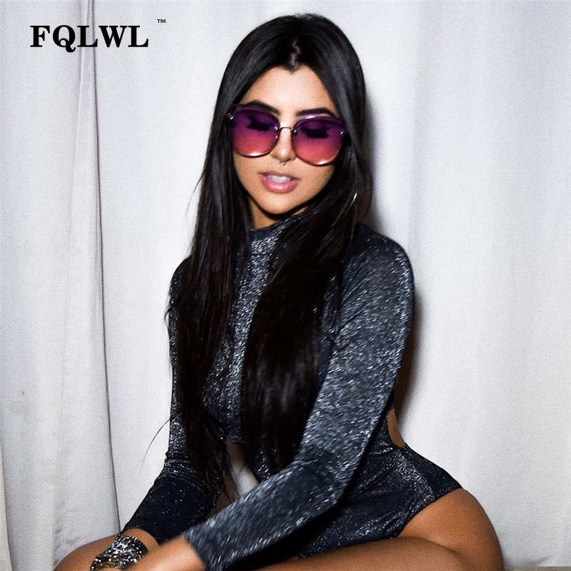 FQLWL Long Sleeve Black <font><b>Sexy</b></font> Bodysuit Women <font><b>2018</b></font> Backless Glitter Bodycon Skinny Bodysuit Female Winter <font><b>Rompers</b></font> Womens Jumpsuit image