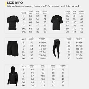 Image 5 - 5 Pz/set Tuta da Uomo Palestra di Fitness di Compressione di Vestiti del Vestito di Sport Corsa E Jogging Da Jogging vestito di Sport di Usura Esercizio di Allenamento Calzamaglie