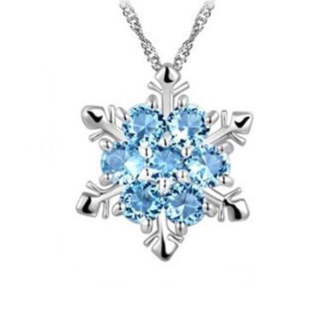Us 3 34 6 Off Hoge Kwaliteit Glitter Kristal Sneeuwvlok Hanger Ketting Charms Vrouwen Elegante Bruiloft Sieraden Beste Cadeau Voor Vriendin Vrouw In