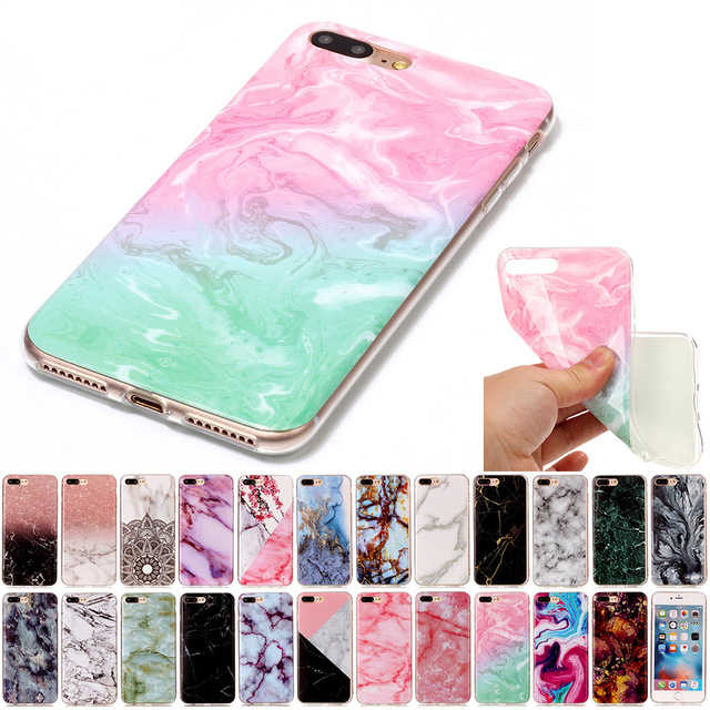 Marble Pattern Silicone Soft TPU Cover Coque For iPhone 8 7 Plus 6S Plus 5 5S SE 5C 4 4S For iPod touch 6 5 Funda B02