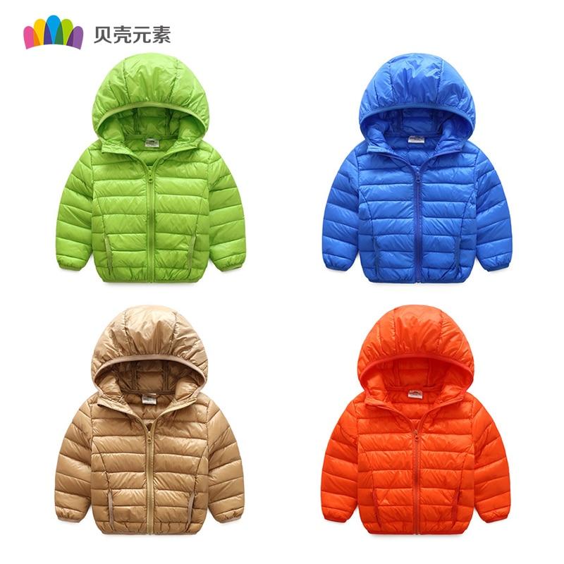 Мода 2017 г. детская зимняя куртка с капюшоном с длинным рукавом для мальчиков пальто для девочек Костюмы 6 Цвет одноцветное детская верхняя о...