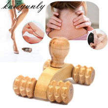 kai yunly 1PC Wooden Car Roller Massage Reflexology Hand Foot Back Body Therapy Relaxing Gifts Tool Oct 7