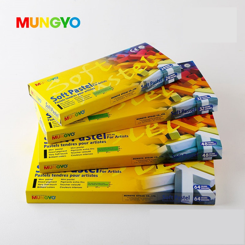 MUNGYO MPS 24/32/48/64 Colors Soft Pastels Series DIY Hair Dyed Color Make Up ART Drawing Paint