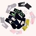 NEW design women's fashion Pretty cute Cat Alien Cotton Socks brand socks 2017