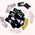 Nuevo diseño de moda pretty cute cat extranjero de las mujeres calcetines de algodón calcetines de marca 2017