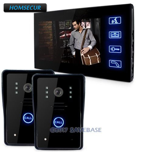 HOMSECUR Wired Door Phone Doorbell Touch Key 7Lcd Video With Ir Camera Home Intercom 2V1