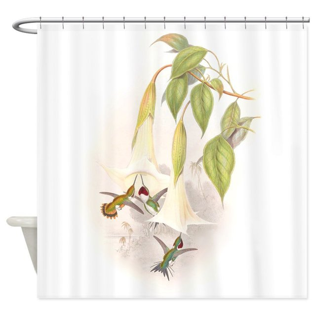 Warm Tour Hummingbirds Shower Curtain Fabric Polyester Waterproof Bathroom  Curtains