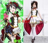 Hot Japanese Anime LoveLive Cosplay Maid Awakening Love Live Nico Yazawa Cosplay Costume Dress Full Set