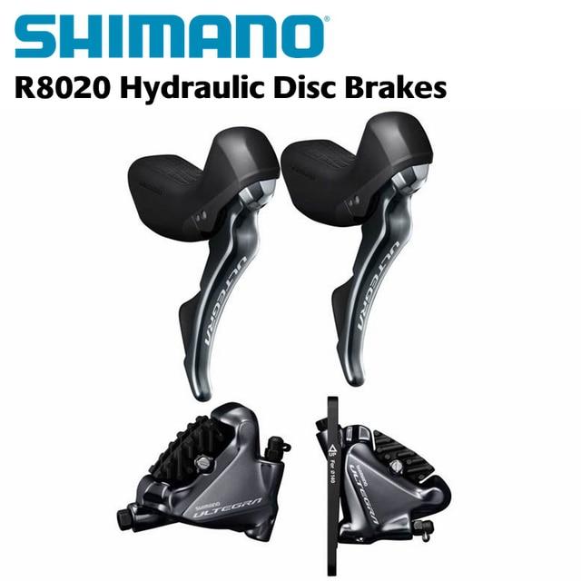 24f27b41208 Shimano Ultegra ST-R8020 Trigger Shifter + BR-R8070 STI + Hydraulic Disc  Brakes - Flat Mount - 2x11-speed - pair