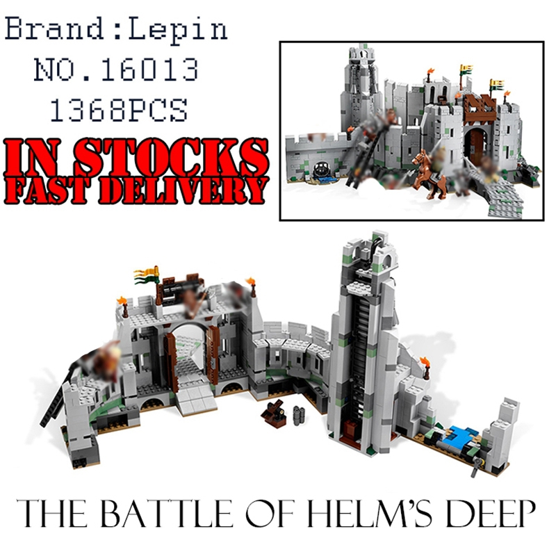 Lepin Castle Knights 16013 The Lord of the Rings figures The Battle Of Helm' Deep Model Building Blocks Bricks hobbit Toys 9474 lord of the rings pg518 witch king of angmar the black gate diy figures building blocks bricks kids diy toys hobbies single sale