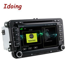 Idoing 2Din Android5.1For Volkswagen Touran/Passat/B6 Steering Wheel Car DVD Multimedia Video Player Quad Core GPS Navigation 3G