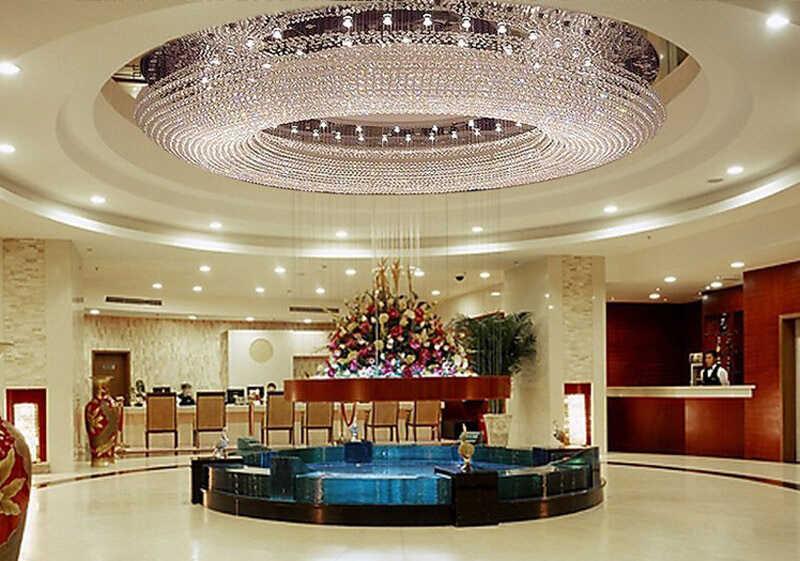 1 1.5 2 3 เมตร LED รูปไข่ห้องนั่งเล่นโคมไฟคริสตัล high-end บรรยากาศโคมไฟเพดานโรงแรมล็อบบี้ LED โคมไฟสำหรับห้อง