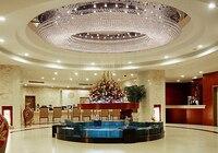 1 1,5 2 3 metros LED oval sala de estar lámpara de cristal de alta gama atmósfera lámpara de techo vestíbulo hotel iluminación led accesorio para habitación 5