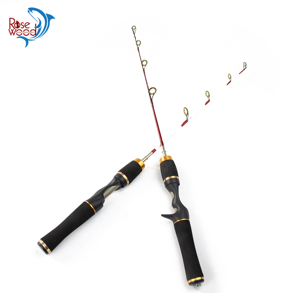 Portable winter mini ice fishing rod spinning casting rod for Ice fishing supplies wholesale