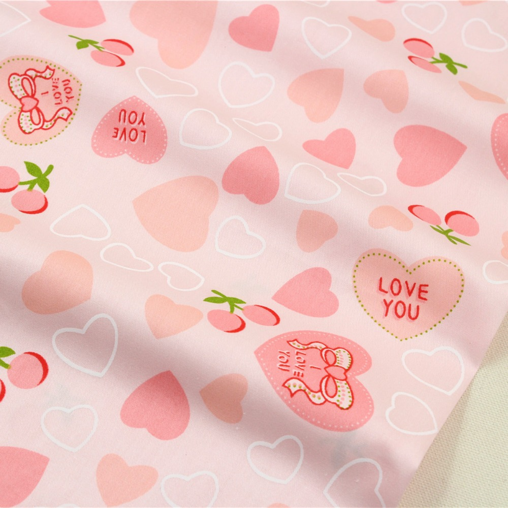 1509343, envío libre 50 cm * 150 cm Amor de dibujos animados de tela de algodón