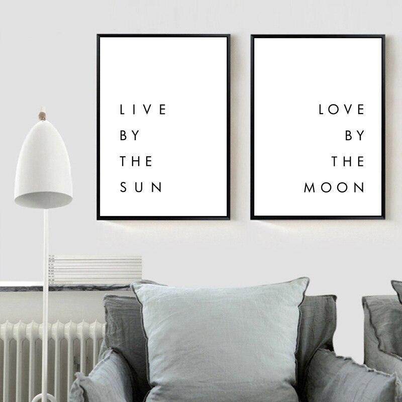 Bedroom Minimalist Art: Bedroom Wall Art Minimalist Canvas Print Poster