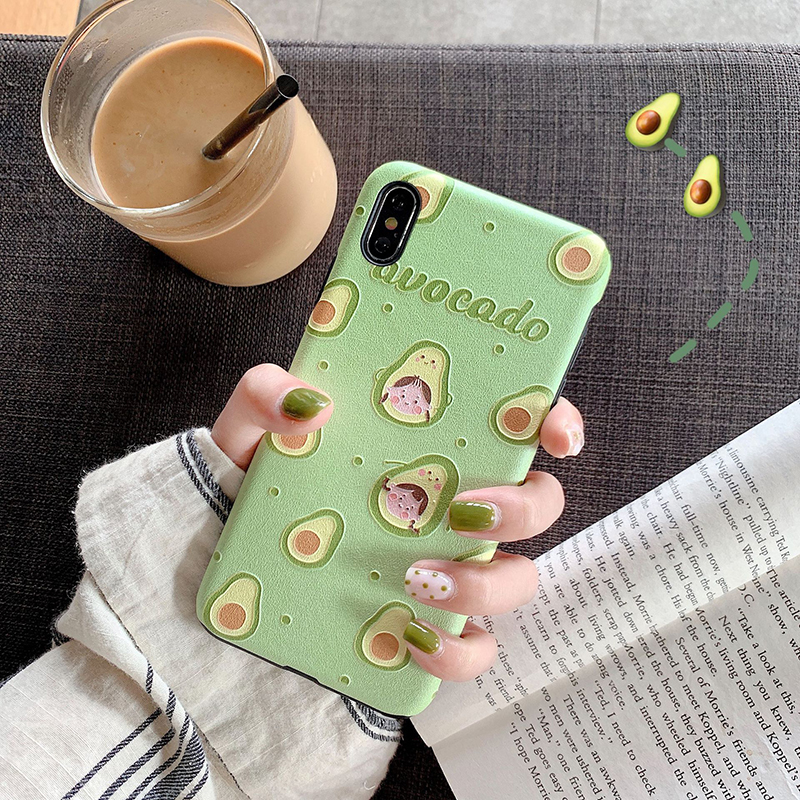 Protective Coque For iphone 6 6s 7 8 plus Fashion Fruit Girl Soft Phone Case Cover For iPhone XS Max XR X 6 7 8 Plus Fundas in Fitted Cases from Cellphones Telecommunications