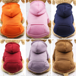 Image 1 - Dog Hoodies Autumn and winter warm sweater For Dogs Coat Jackets Cotton  Puppy Pet Overalls For Dogs clothes Costume Cat clothes