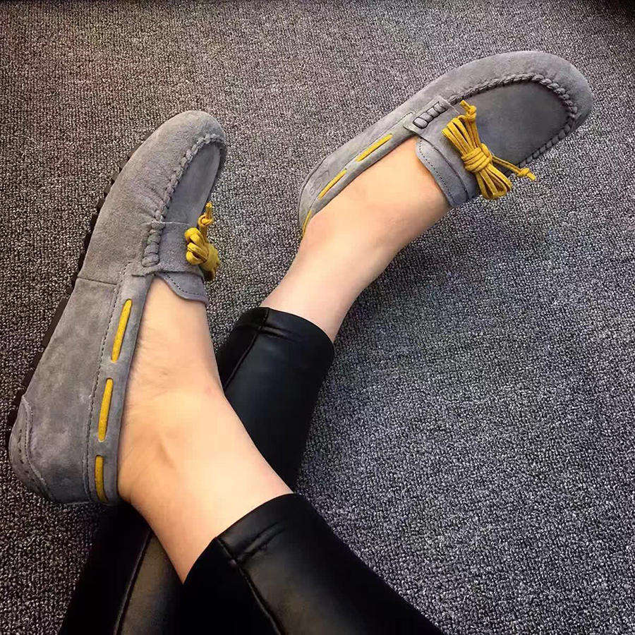 High Quality 2018 New Women Flats Genuine Leather Women Shoes Brand Driving Shoes Spring Summer Women Casual Shoes new 2015 fashion high quality lazy shoes women colorful flat shoes women s flats womens spring summer shoes size eu35 40wsh488