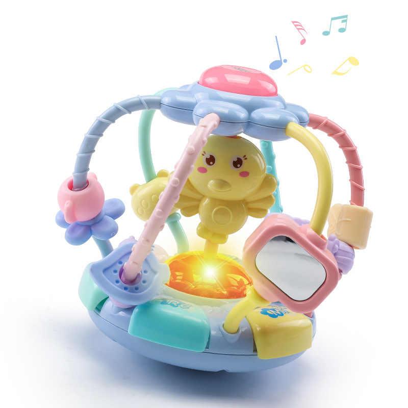 Детские погремушки в кроватку мобильные телефоны держатель для игрушек вращающаяся радио-няня кровать музыкальная шкатулка детские игрушки 0-12 месяцев новорожденный младенец мальчик игрушки
