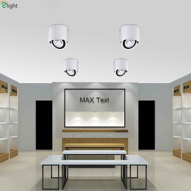Moderne Draaibare Led Plafond verlichting Ronde Metalen Buis ...