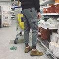 Para hombre Chándal de Invierno Espesar Pantalones Ocasionales de Los Hombres, Además de Terciopelo Caliente Para Hombre pantalones Lado Bolsillos Mediados de Cintura Slim Fit Hombre Sweat Pant 2XL