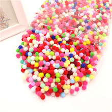 1000-2000Pcs 8mm 10mm 15mm Random Mixed Color Pompom Soft Balls Wholesale For DIY Kids Toys Accessories