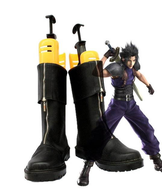 Crisis Core Final Fantasy VII FF7 Zack Fair Cosplay Shoes Boots Custom Made