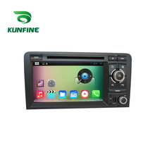 Quad Core 1024*600 Android 5.1Car DVD GPS Navigation Player Car Stereo for Audi A3 03-13 Bluetooth steering wheel control