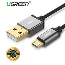 Ugreen Micro USB Cable 2A carga rápida Cable de datos USB para Samsung Xiaomi Tablet Android Cable de carga USB Microusb cargador cable