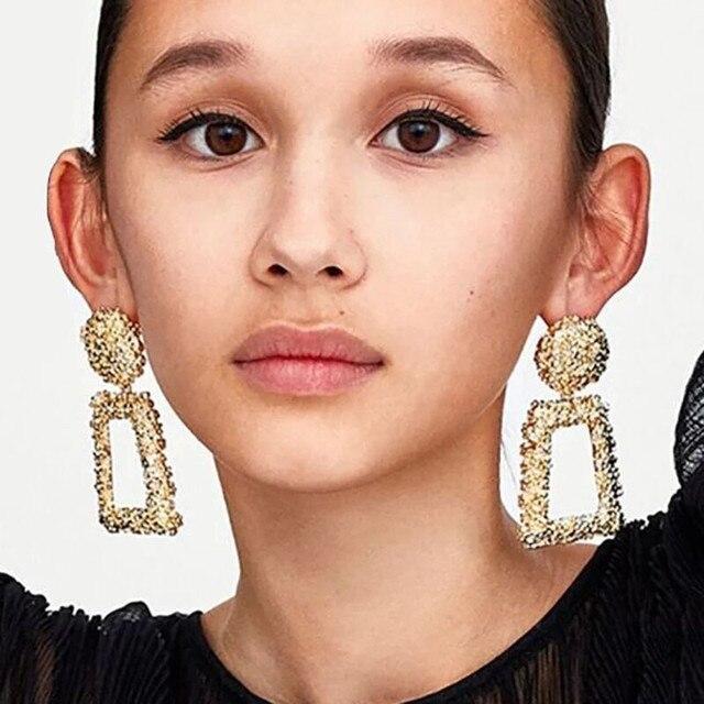 Boucles d'oreilles géométrique métal 1