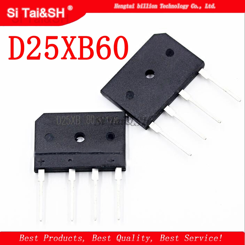 5pcs/lot D25XB60 D25SB60 D25XB80 D25SB80 25A 600V/800V Power Bridge Rectifier-in Integrated Circuits from Electronic Components & Supplies
