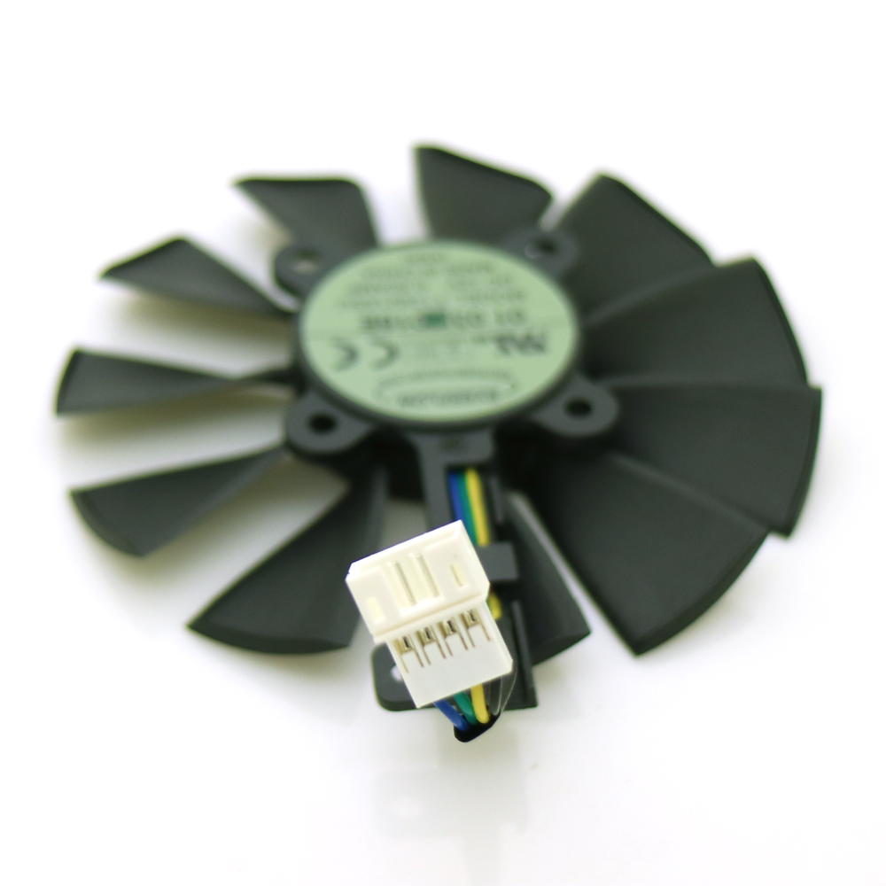 Купить с кэшбэком Free Shipping T129215SU 12V 0.5A 87mm VGA Fan For ASUS Strix GTX960 GTX970 GTX980 GTX1070 Graphics Card Cooler Cooling Fan