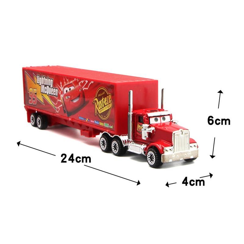 7Pcs set Disney Pixar Cars 3 Lightning McQueen Jackson Storm Cruz Mater Mack Uncle Truck 1