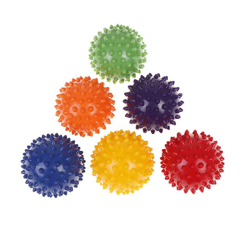 1 adet dayanıklı PVC ağrı kesici Plantar fasiit rahatlatıcı oyuncak topu dikenli masaj topu tetik noktası spor Fitness el ayak
