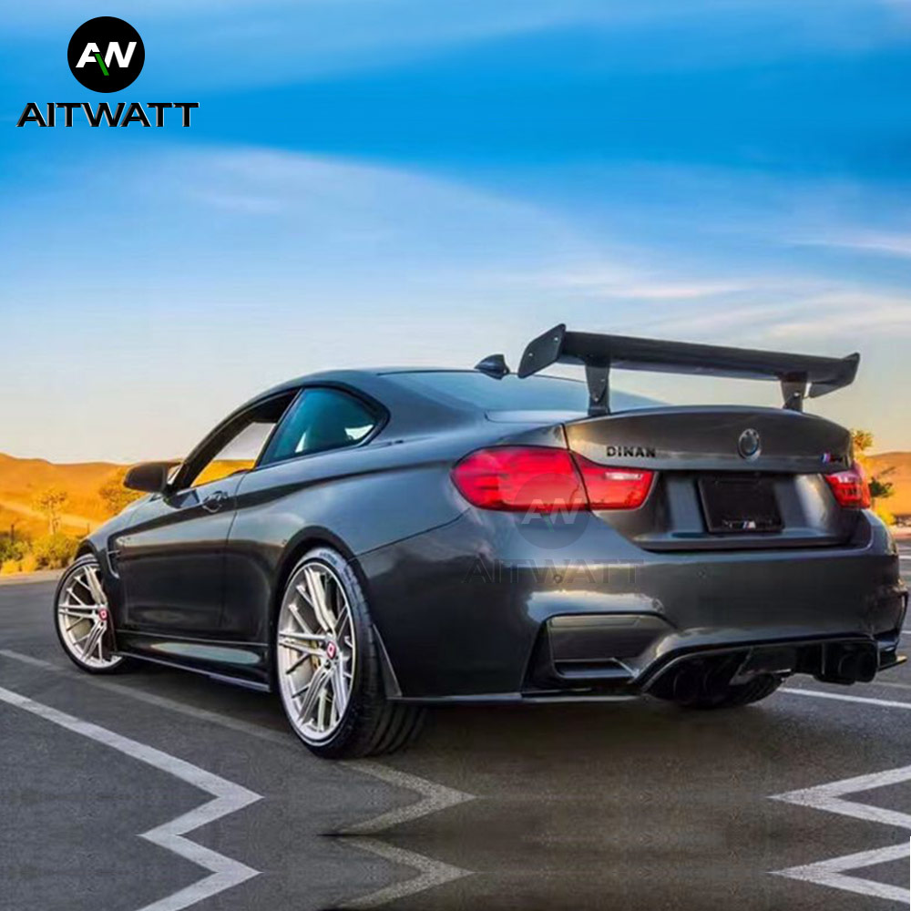 For <font><b>BMW</b></font> 1M M3 E82 E87 E90 E92 E93 F30 F10 Revozport Style <font><b>GTS</b></font> Carbon Fiber Modified Rear <font><b>Spoiler</b></font> Tail Wing Car Styling AITWATT image