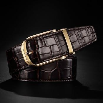 FRALU 2020 High quality men's genuine leather belt designer belts men luxury  male belts for men fashion vintage pin buckle for 2