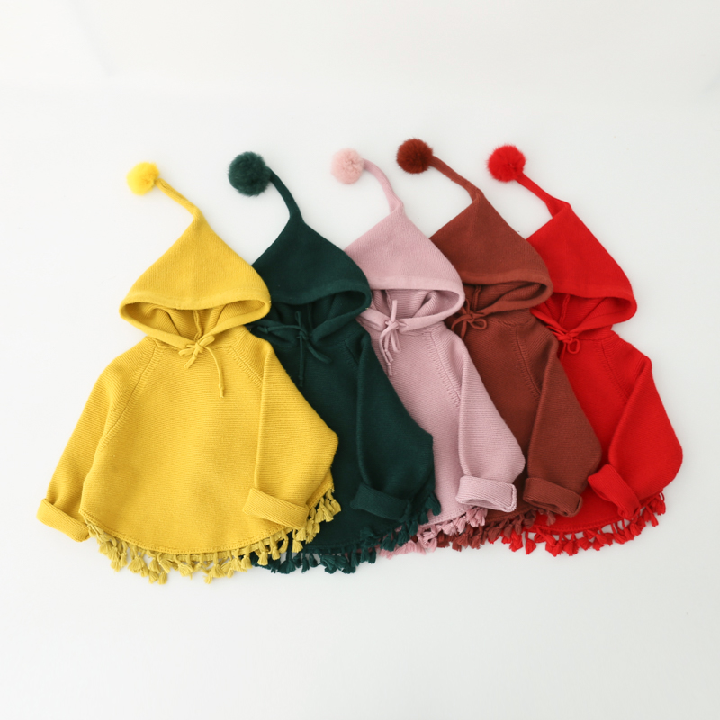 Toddler Baby Girl Clothes Hooded Batwing Sleeve Coat Cute Cloak Mantle Outwear